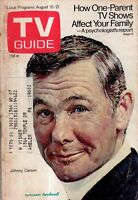 1970 TV Guide August 15 - Johnny Carson by Norman Rockwell; Bob and Ray;Bernard