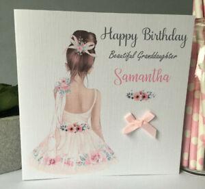 Personalised Birthday Girl Ballerina Card Ballet Exam Daughter Grandaughter