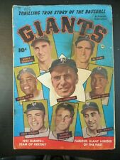 THRILLING TRUE STORY - NEW YORK GIANTS OF 1951, G+, 1952, WILLIE MAYS, SCARCE