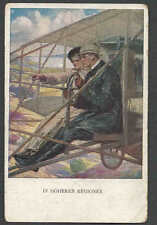 Ca 1915 PPC* VINTAGE AUSTRIAN EARLY AIRPLANE GREETING CARD IN HIGHER REGIONS