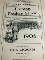 Trenton NJ Poultry Show 1908 Fair - Chicken Farm Animal Farming Antique Booklet