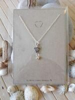 Beach turtle & heart silver necklace ocean sea mermaid Birthday Valentines gift