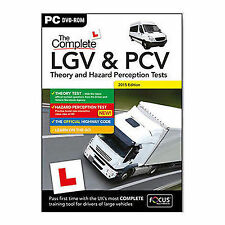 HGV LGV PCV DVSA THEORY TEST AND HAZARD PERCEPTION TEST PC DVD CD 2017 BOX
