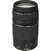 Canon EF 75-300mm f/4-5.6 III Telephoto Zoom Lens for EOS Rebel SL1, T6s, T6i