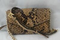 MICHAEL KORS PYTHON EMBOSSED LEATHER PHONE CROSSBODY CLUTCH PURSE BAG MINT!!