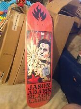 Black Label Jason Adams Johnny Cash Skateboard Deck Red Stain New