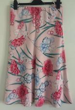 NEW Ex Marks & Spencer Floral Flower Blossom Print A-Line Midi Skirt Size 8-24