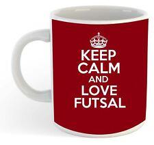 Keep Calm And Love Futsal  Mug - Maroon