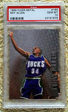 FLEER METAL PRECIOUS METAL RAY ALLEN RC PSA 10...POP 1/BEAUTY...CARDREGISTRY