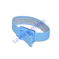 ESD Antiestática Correa De Muñeca Ajustable Con 10 Mm Stud Azul