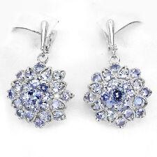 Ohrringe Tansanit 925 Silber 585 Weißgold