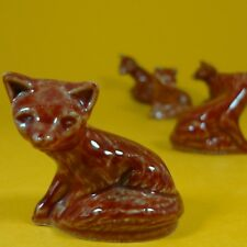Wade Whimsies (1992/97) Tom Smith Crackers Set #13 Snowlife - Red / Brown Fox