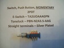 Push Button  Switch, 2PDT MOMENTARY, Toneluck, PBNN2A35AAG, E-Switch, TA2UOAAGPN