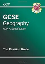 GCSE Geography AQA A Revision Guide, CGP Books, Very Good condition, Book