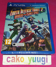 EARTH DEFENSE FORCE 2 INVADERS FROM PLANET SPACE PS VITA  NEUF SOUS BLISTER