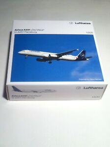 """HERPA 533621 Lufthansa Airbus A321 """"Die Maus""""1:500"""