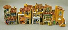 """NIB J CARLTON BY GAULT FRENCH MINIATURE PROVENCE BUILDING SET OF 5  2 1/4 """" h"""