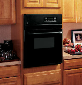 GE 24 inch Electric Single Standard Clean Wall Oven Black