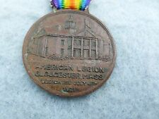 American Legion Hall Dedication Medal Gloucester Massachusetts 1921
