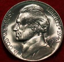 Uncirculated 1943 Philadelphia Mint Silver Jefferson Nickel