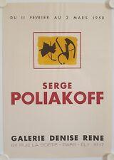 Affiche SERGE POLIAKOFF 1950 Exposition Galerie Denise René - Paris