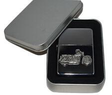 Motorbike Lighter English Pewter Badge NO FUEL INC Smoking Gift Tin Christmas