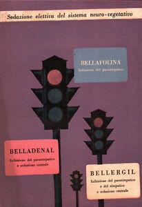 CARTOLINA CARTA ASSORBENTE PUBBLICITARIA MEDICINALE BELLAFOLINA -