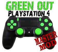 GREEN OUT Master Modded PS4 Controller for all Shooter Games incl COD WWII 2