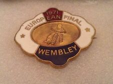 EUROPEAN SPEEDWAY FINAL 1971 WEMBLEY OFFICIAL PIN BADGE IN VERY GOOD CONDITION