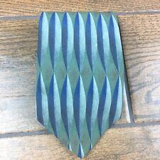 Van Heusen Classic Collection Silk Green Blue MENS Tie