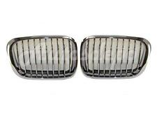 For 1999-2001 BMW E46 323 325 328 330 SDN/WGN GRILLE CHROME W/BLK RUBBER SET