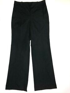 Ann taylor high rise flare dress work career pants black size 4 small