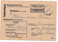 Carte Stalag VIII C Sagan Reçu de Colis Brief Germany War