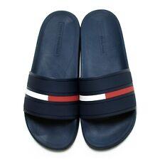 Tommy Hilfiger Para Hombre de Diseñador de diapositivas con el logotipo Zapatillas Ennis Flip Flop Sandalias