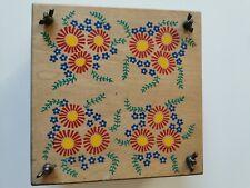 Handmade Wooden Painted Vintage Flower Press
