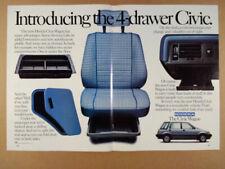 1984 Honda Civic Wagon 'Introducing' color photos vintage print Ad