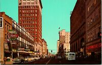 1950s Postcard Downtown Huntington West Virginia WV Fourth Street From Eighth