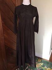 Dosa Dark Brown Silk Long Tunic Dress, Size 1/S/XS