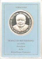 MEDAILLE en Argent - François Mitterrand // Qualité: BE