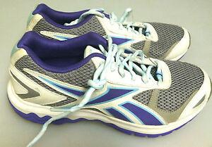 REEBOK  sz 4.5 WOMENS RUNNING SNEAKERS - MULTI COLOR - NWOB SHO - 8