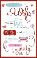 Amazing Wife Valentine's Day Greeting Card Glitter Finished Cards