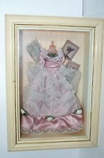 Vintage Arister Victorian Doll Dress Collection Shadowbox