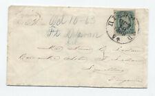 1863 Confederate cover from Fort Delaware Civil War Prison [F821.84]