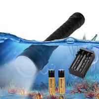 6000Lm Scuba Diving 3* XM-T6 LED Underwater 100m Flashlight Torch+2*18650 LZ