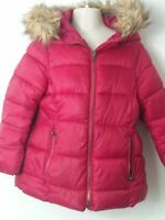 GIRLS ZARA GIRLS RED HOODED PADDED QUILTED COAT JACKET KIDS AGE 6 YEARS