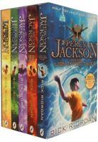 Rick Riordan Percy Jackson Collection 5 Book Set, The Lightning Thief, Last Olym