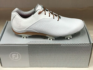 NEW FootJoy DNA 94808 White/Tan Womens Golf Shoes 9.5M WATERPROOF Were $190