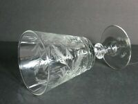 "VINTAGE HAND CUT CRYSTAL GOBLET/GLASS/S LEAF/FLORAL DESIGN, 6.5"", RARE, MINT!"