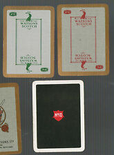 "Playing Swap Cards 3 VINT  WIDE "" WATSON'S "" NO10  SCOTCH WHISKY ADVT D52"
