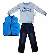 Kids Headquarters 3-Pc. Size 6 Pants/Shirt/Vest Set, Blue Motorcycle